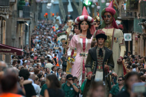 Giants parade at Barcelona's Festival La Mercè