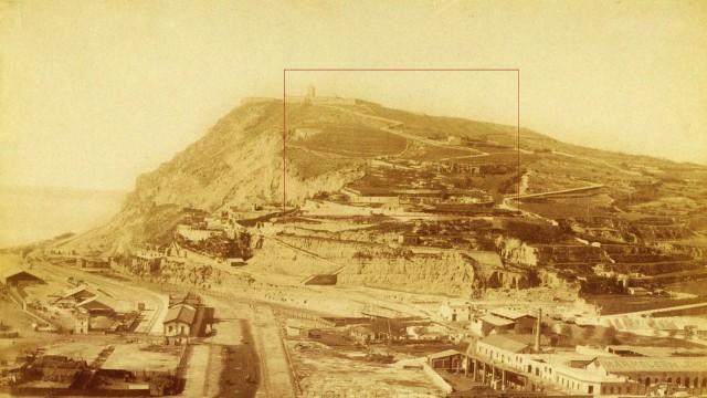 Vista de la montaña de Montjuïc 1880