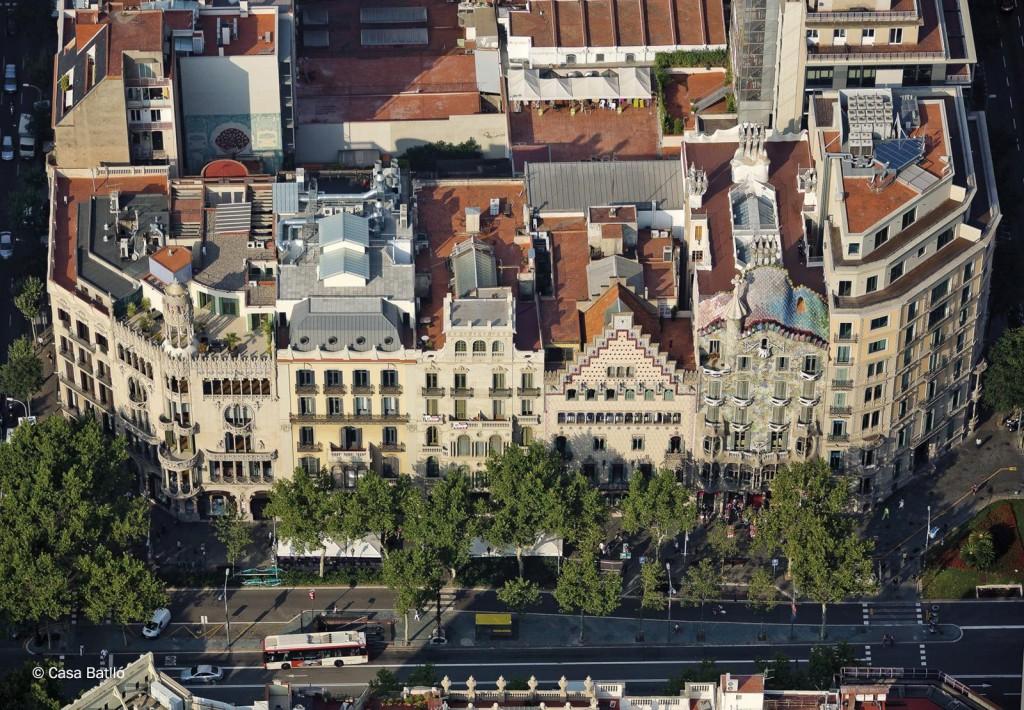 Illa de la Discòrida - Casa Lleó Morera, Casa Amatller, Casa Batlló