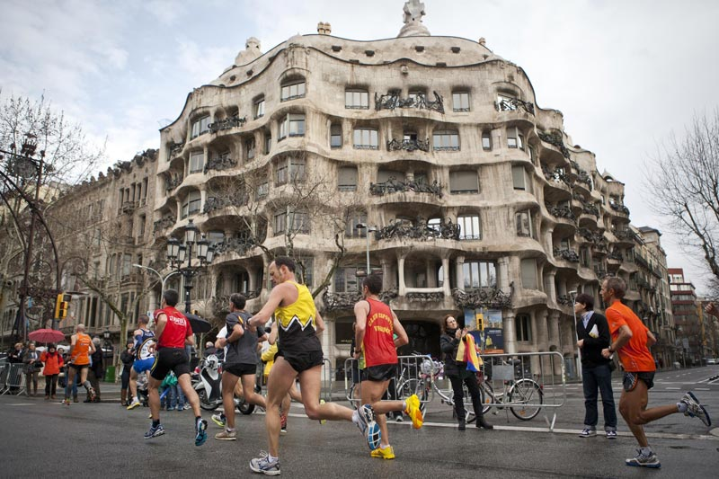 Running the Marathon by la Pedrera, Gaudi