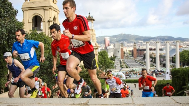 Runners in Montjuic