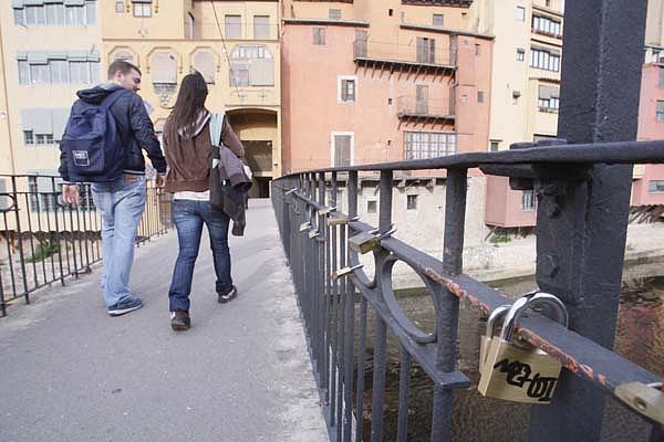 Pont Princesa bridge in Girona by Marc Marti