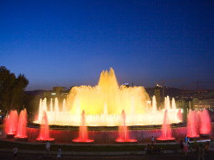 Magical Fountains Montjuic by night