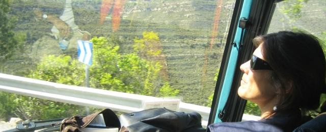 Cristina Mila tour guide at the Daily Tours Bus going to Montserrat