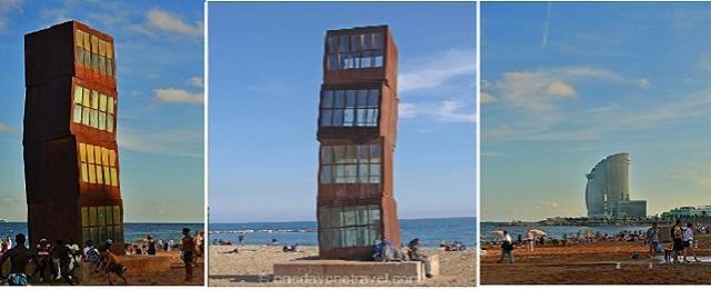 L'Estel ferit, Homenatge a la Barceloneta (Rebecca Horn)