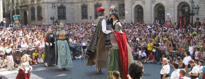 Gegants dancing at La Mercè party