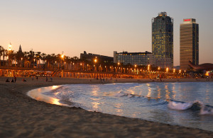 barceloneta by night