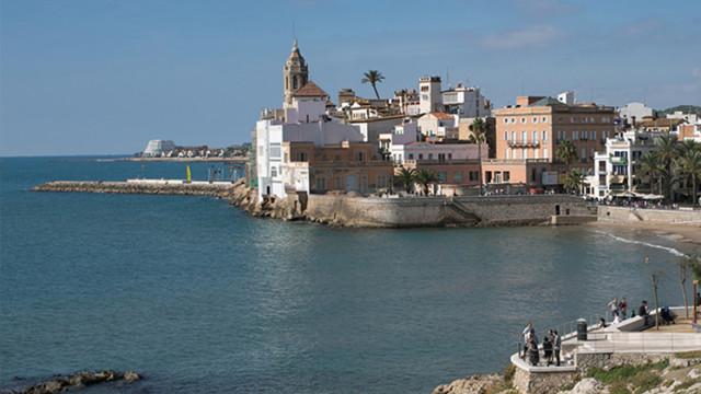 Sant Sebastià Beach in Sitges