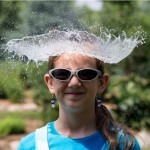 Water sombrero to beat the heat