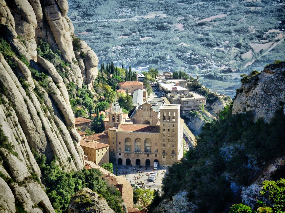 The 1000 year old monastery is perched half way up the mountain, sheltered by its peaks