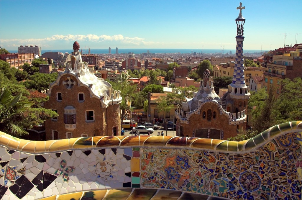 Views from Gaudi's Park Guell in Barcelona