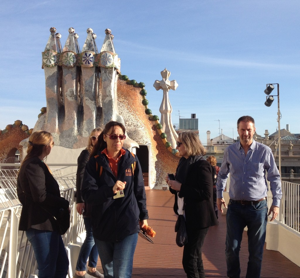 Sonia and group at Casa Batllo