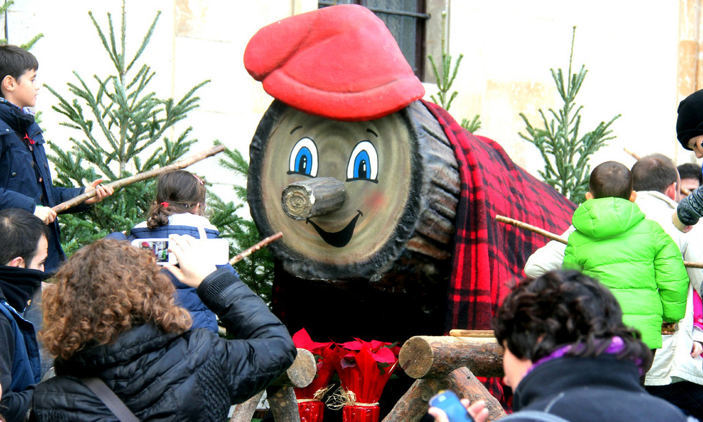 The Caga Tió - Christmas Log - you will only see in Barcelona for Christmas