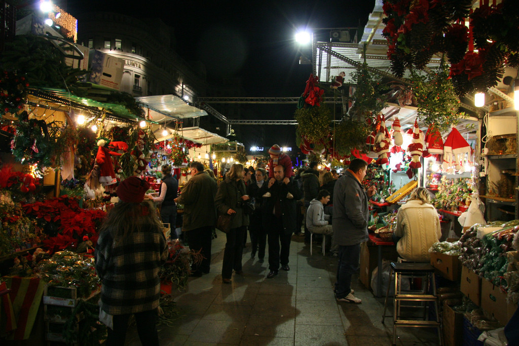 Fira de Santa Llucia Barcelona - largest and oldest christmas market in barcelona