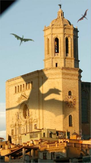 Cathedral of Girona - dragons for Game of Trhones