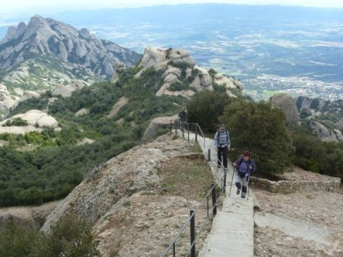 Hicking in Montserrat towards Sant Jeroni
