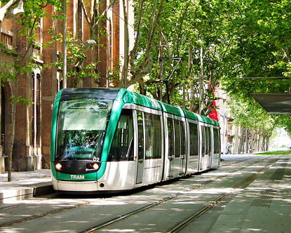 The Tram in Barcelona