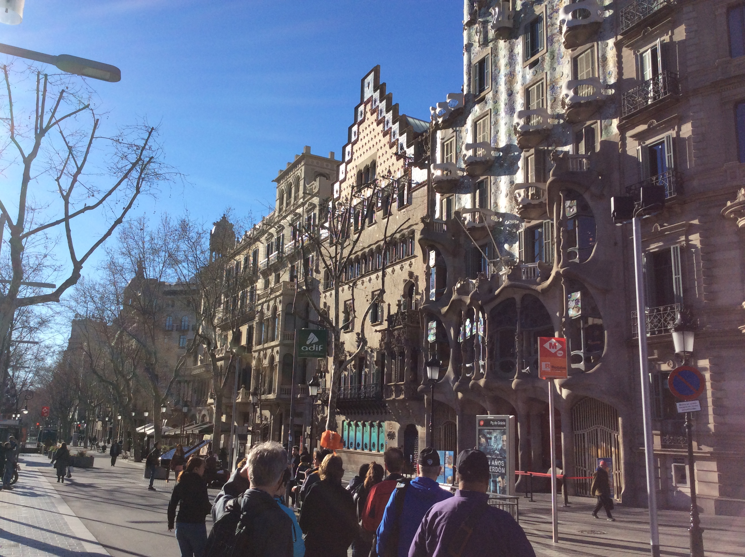 passeig de gracia - block of discord - during Gaudí Tour