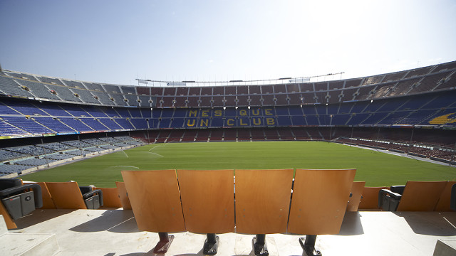 Cups at Camp Nou