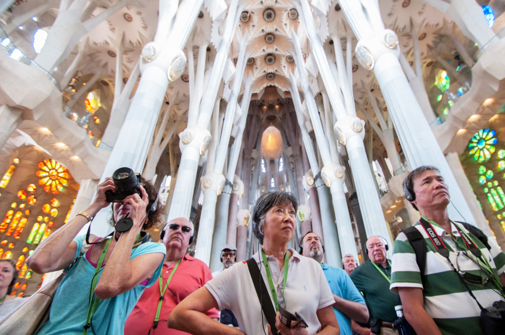 Family in Sagrada Familia