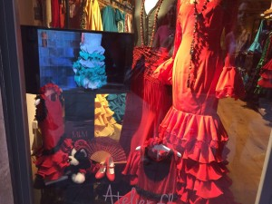 Flamenco Shop with dresses for dogs