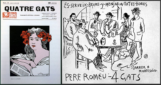 Cover illustration at El 4 gats