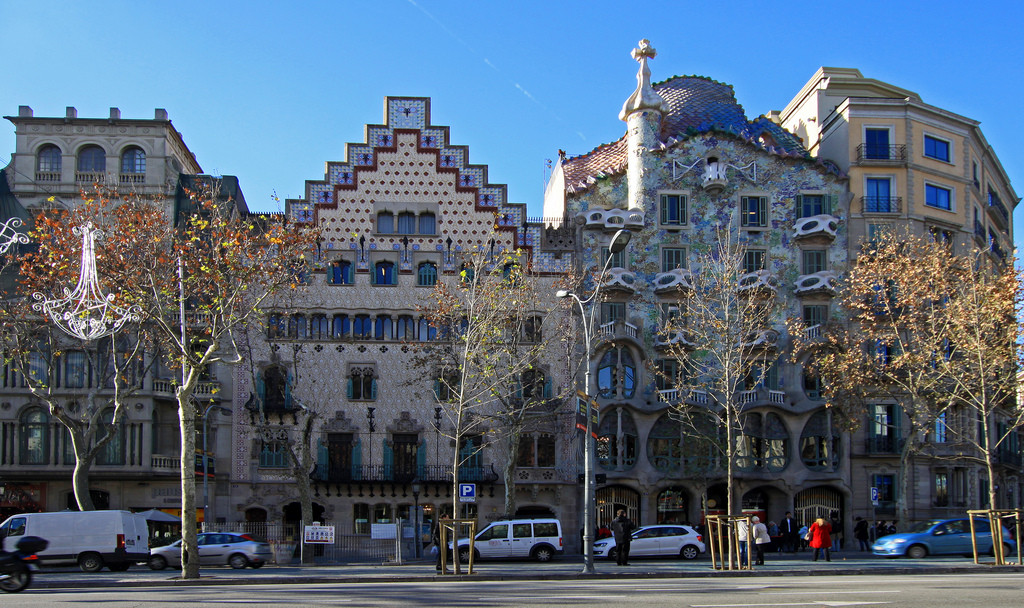 Houses of big architects in Passeig de Gràcia