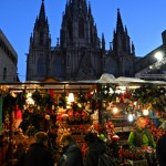 Christmas market in front of the Cathedral