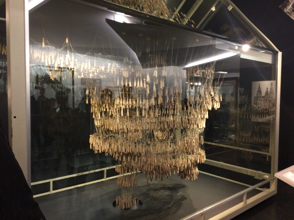 Inverted model of Sagrada Familia