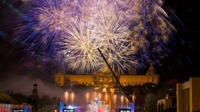 Celebration of New Year in Barcelona