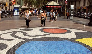 miro mosaic on the rambla
