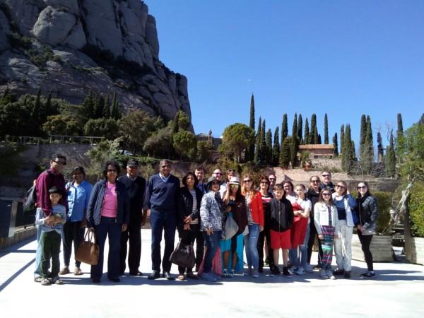 Turistes a Montserrat