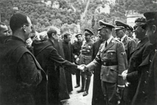 Hitler with the monks in Montserrat