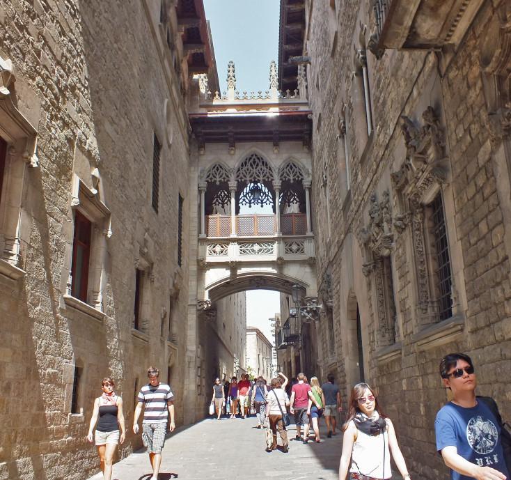 """Torre del Bisbe"" in the Gothic Quarter"