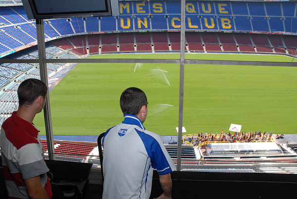 Press Booth in Camp Nou Stadium