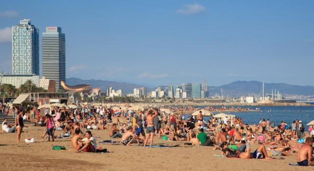 Barcelona beach panoramic