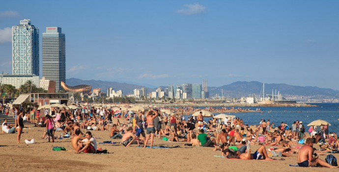 Barcelona beach panoramic