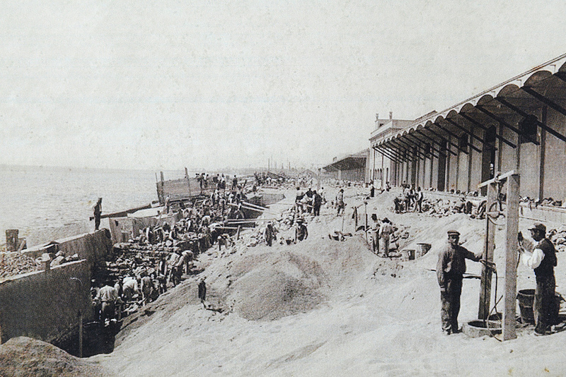 Beaches of Barceloneta before Olympic Games