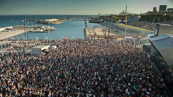 Primavera Sound venue next to the coast