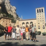 Montserrat with a group of visitors