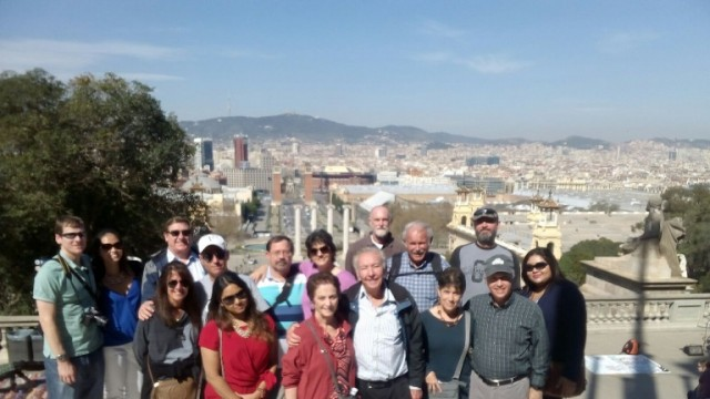 Our visitors during the tour in Montjuïc