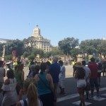 Concentration againts the terrorist attacks in Plaza Catalunya