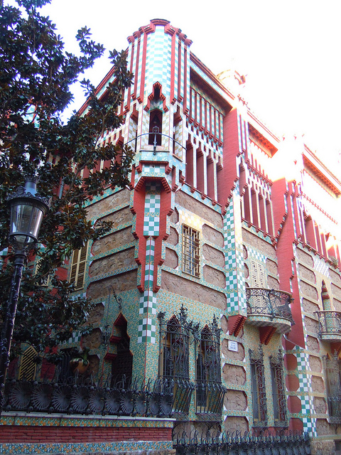 The Casa Vicens, one of first creations by Gaudí