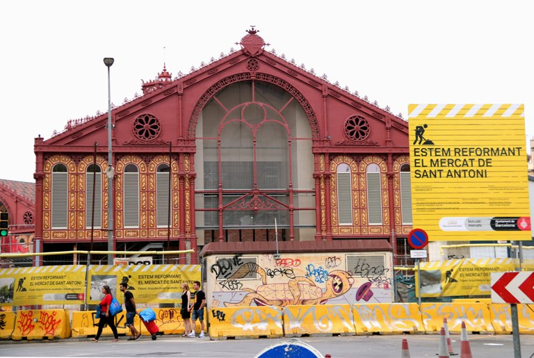 Sant Antoni market underconstruction