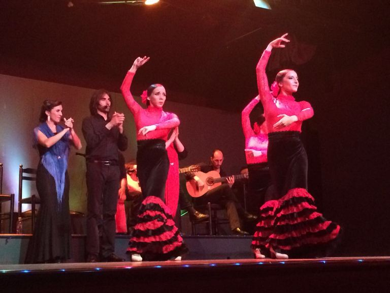 Dancers at the Palacio del Flamenco