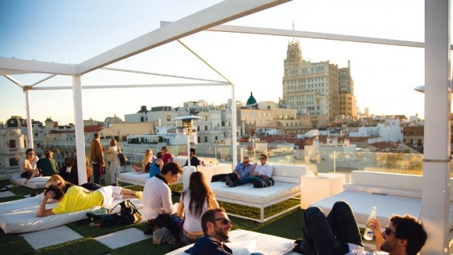 terrace of hotel in Barcelona