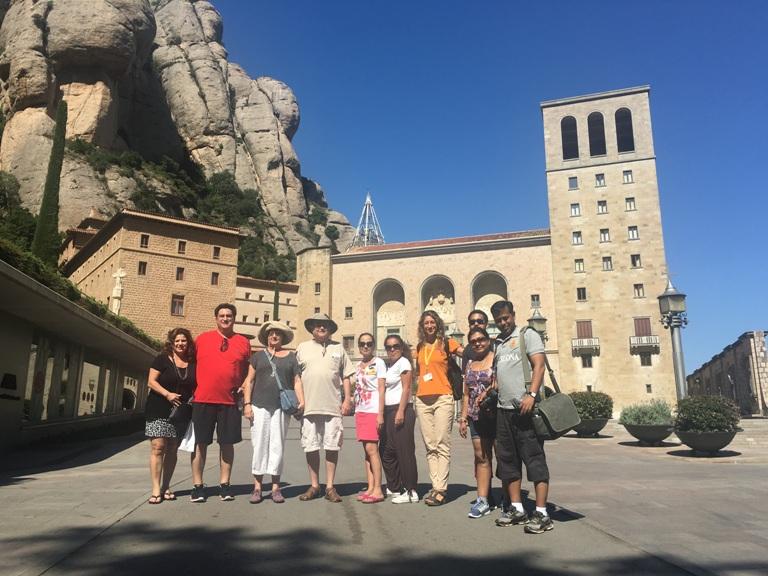 Montserrat tour with a group of visitors