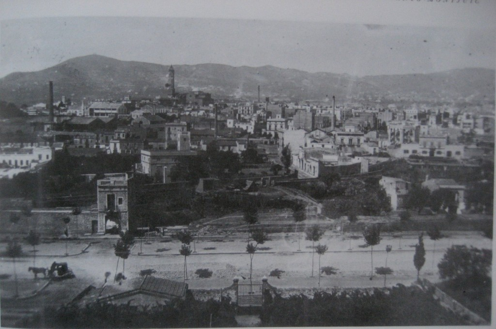 Sants desde Montjuich 1890