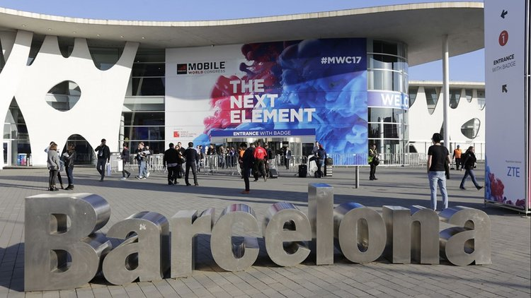 Main door of the Mobile World Congress in 2017