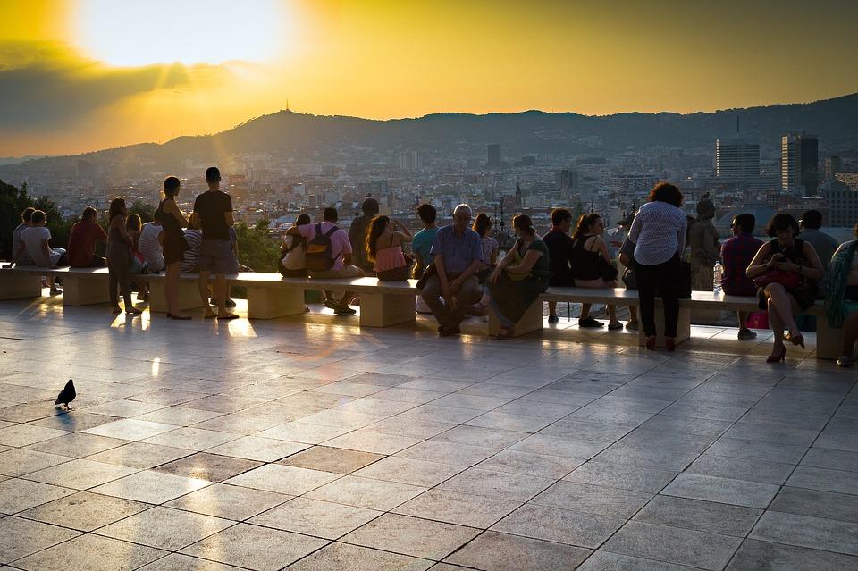 Tourist in Montjuïc